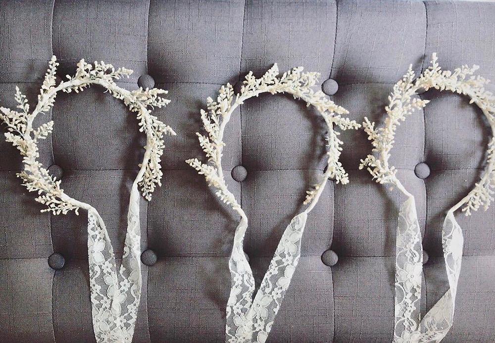 DIY delicate flower crowns