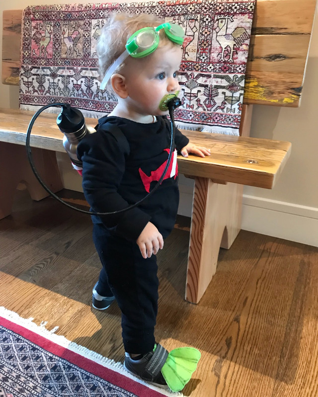 DIY Halloween Scuba Baby Costume