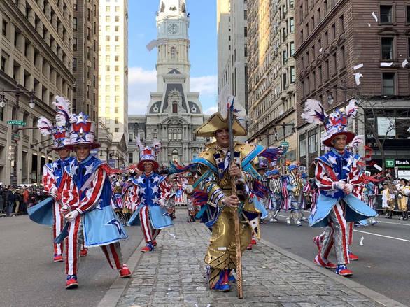 Ferko Performing on Broad Street Philadelphia