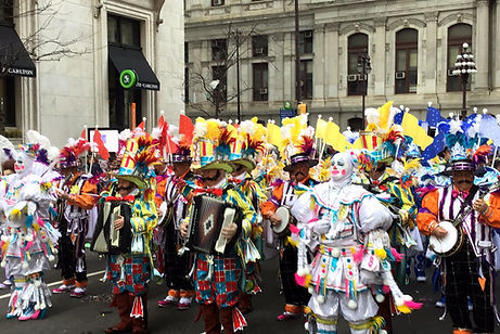 Ferko String Band begins their march down Broad Street for the 2019 Phildelphia Mummers Parade