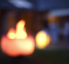 Glasschale mit Holzfeuer Q-Flame