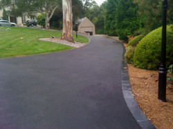 Driveway with brick edging