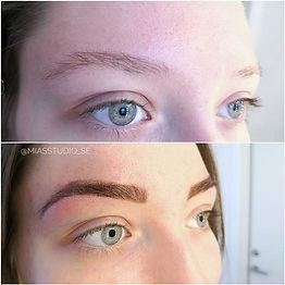 Ögonbrynfärgning med Henna är helt natur