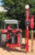 Tractor met paalrammer