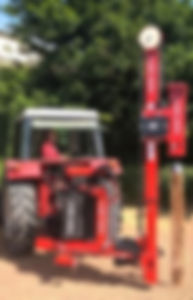 Tractor with pole driver