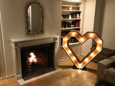 Wooden illuminated letters to put