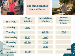 Latest Weekly Wellbeing Programme.
