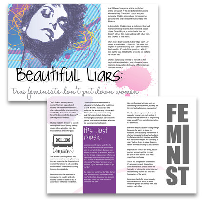 Magazine article created for a friend