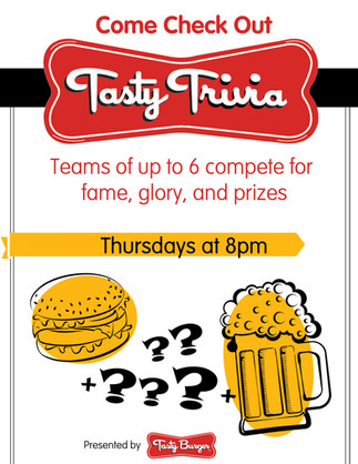 Flyer for trivia night