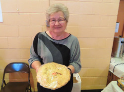 Shirley with pie 2019 picture