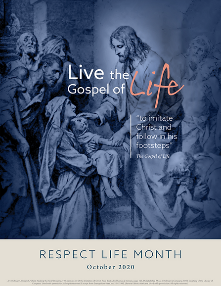 respect life bulletin cover 2020 october