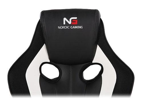Nordic Gaming Challenger Gamer Stol White Black