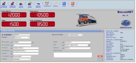 Control Báscula Camiones