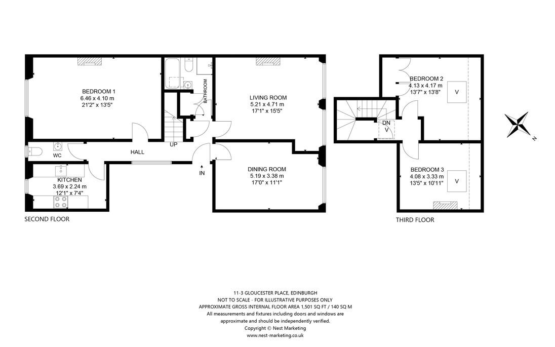 11-3 Gloucester Place, Edinburgh Floorpl