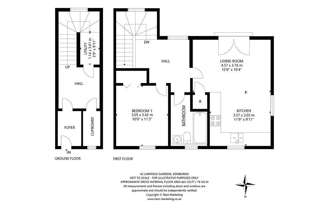 42 Larkfield Gardens, Edinburgh - Floorp