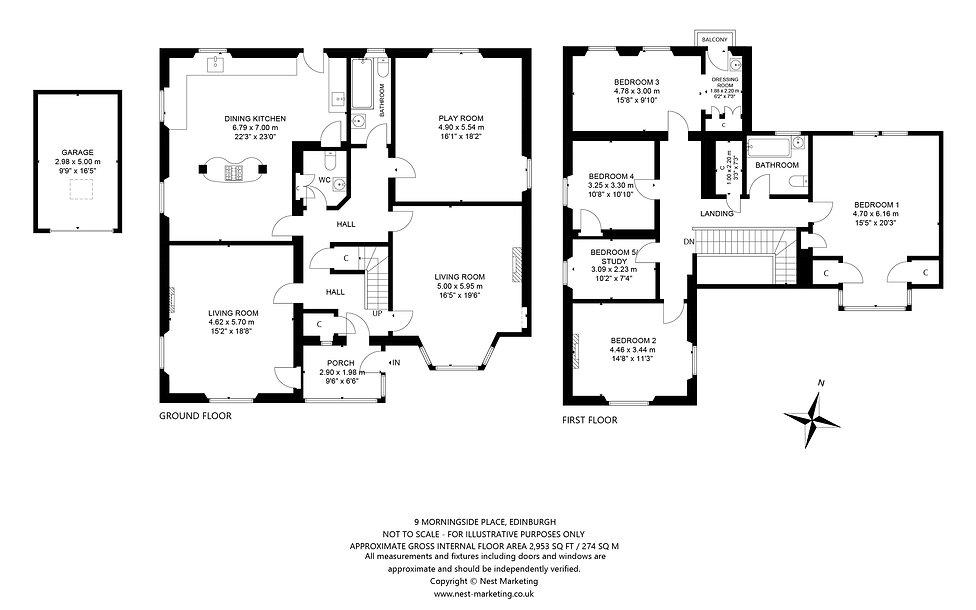 9 Morningside Place, Edinburgh Floorplan
