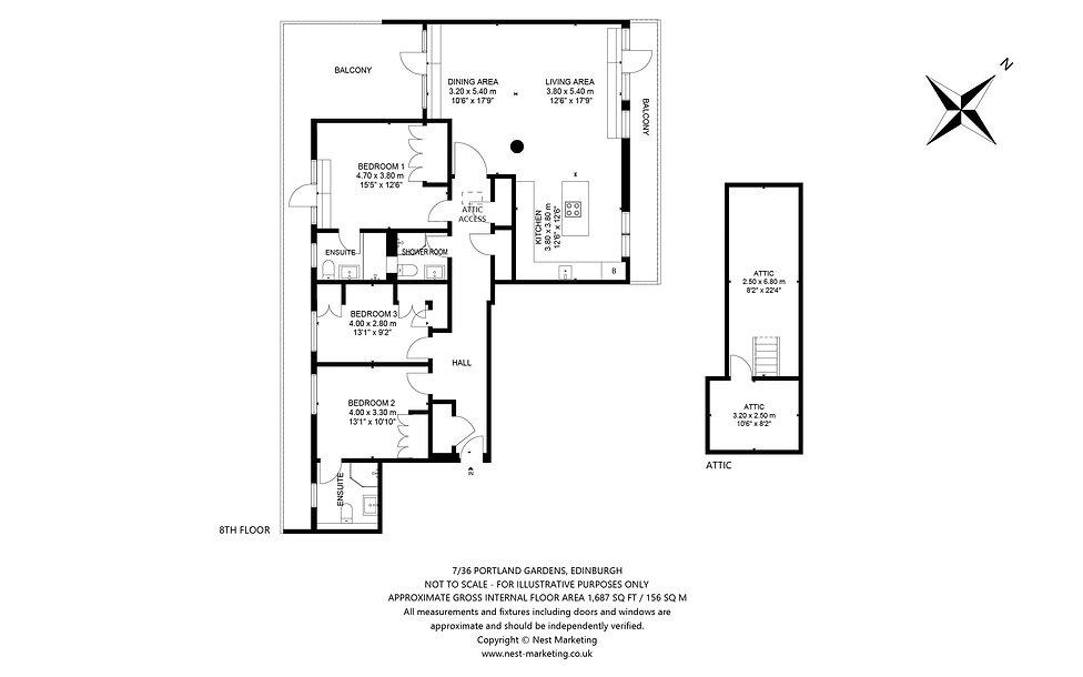 7-36 Portland Gardens, Edinburgh - Floor