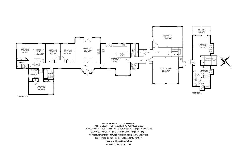 Barnhay, Kinaldy, St Andrews Floorplan .
