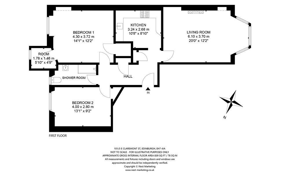 101-3 East Claremont, Edinburgh - Floorp