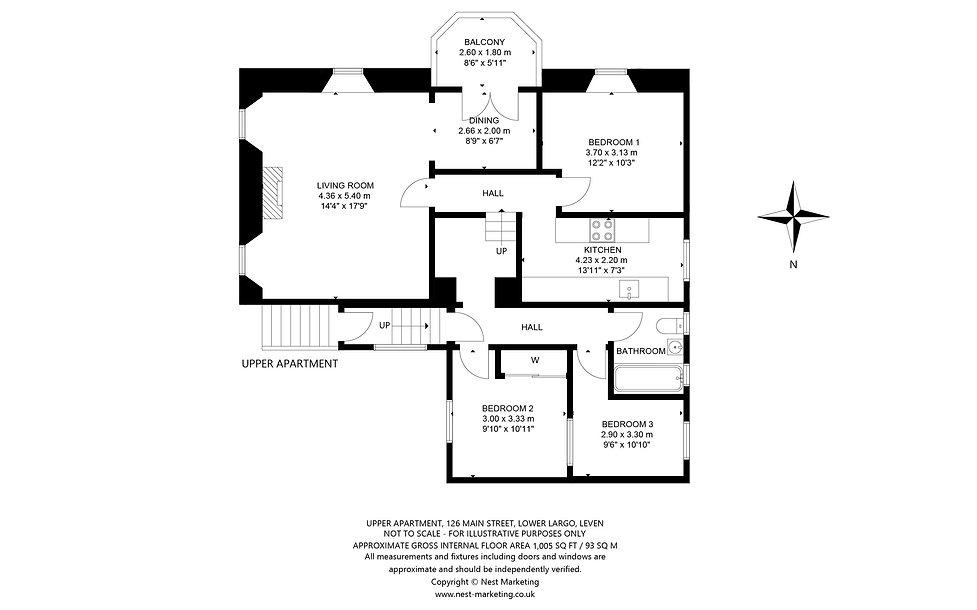 Upper Apartment, 126 Main Street, Lower Largo - Floorplan.jpg