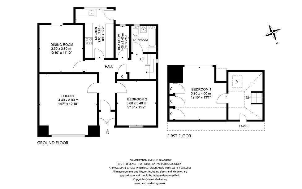 60 Merryton Avenue, Glasgow Floorplan (2