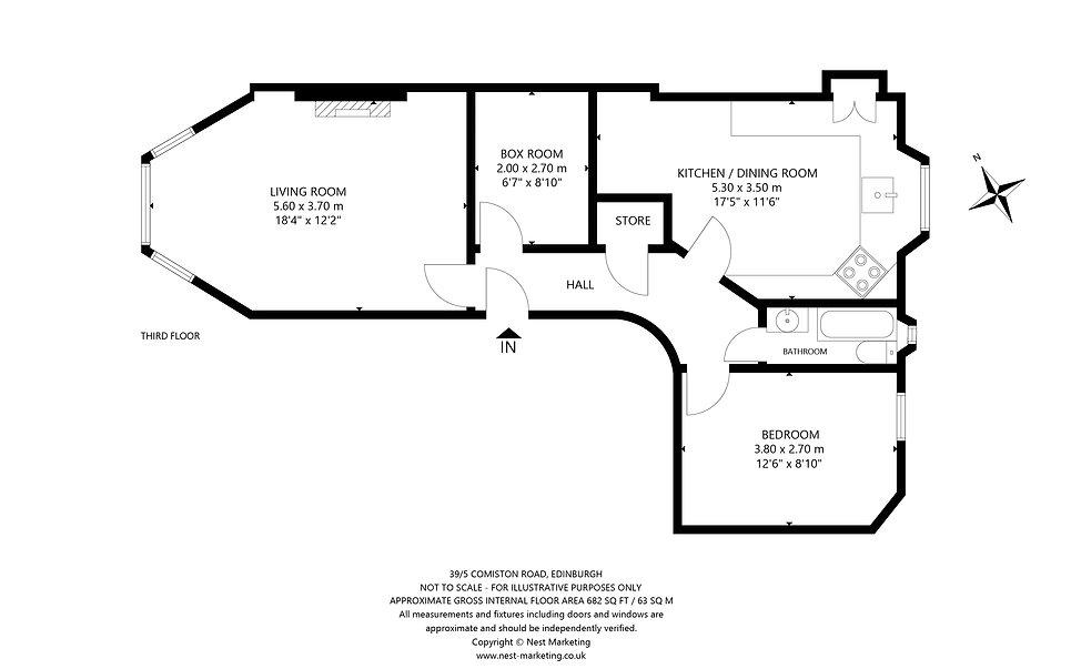 39-5 Comiston Road, Edinburgh Floorplan.