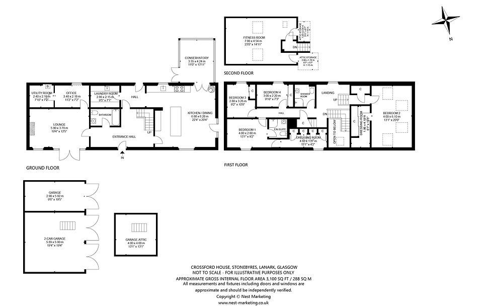 Crossford House, Stonebyres, Lanark, Gla