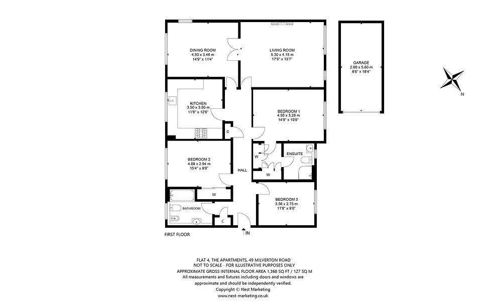Flat 4, The Apartments, 49 Milverton Roa