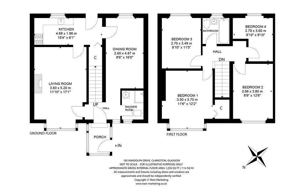 105 Randolph Drive, Glasgow Floorplan (1