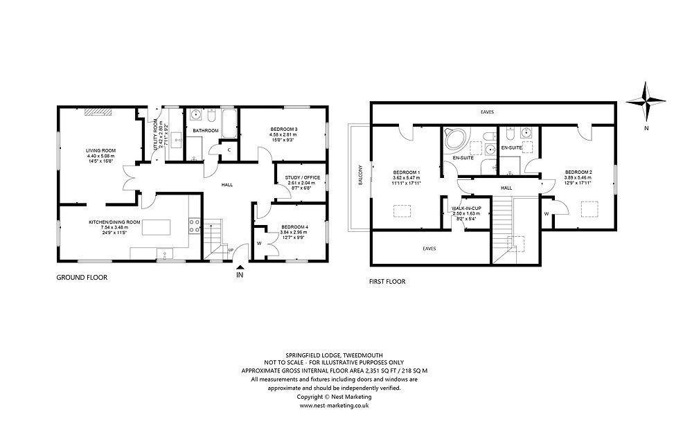 Springfield Lodge, Tweedmouth, Floorplan