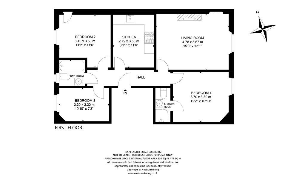 135-3 Easter Road, Edinburgh Floorplan.j