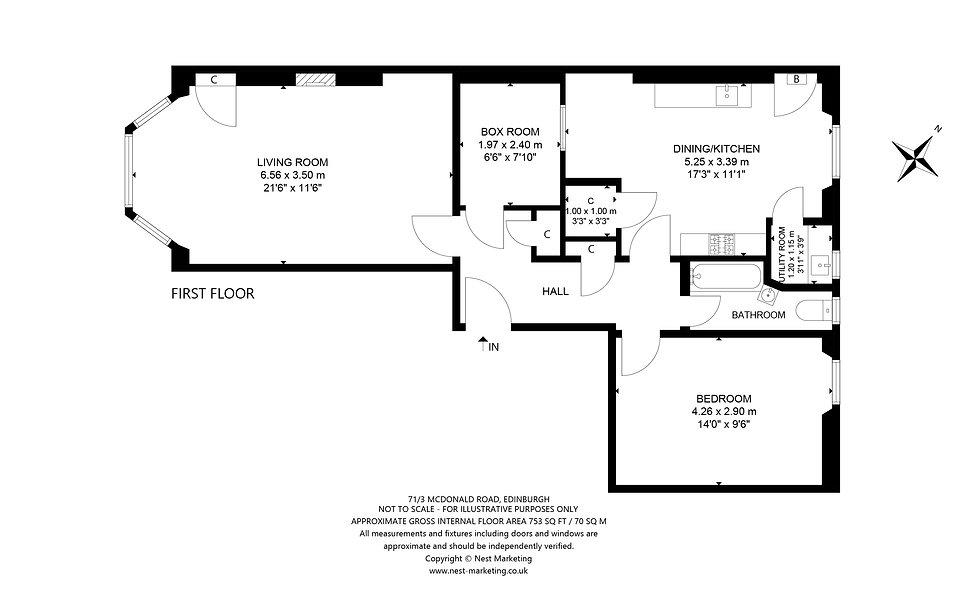 71-3 McDonald Road, Edinburgh Floorplan.