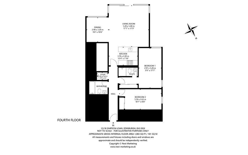 12-18 Simpson Loan, Edinburgh Floorplan.