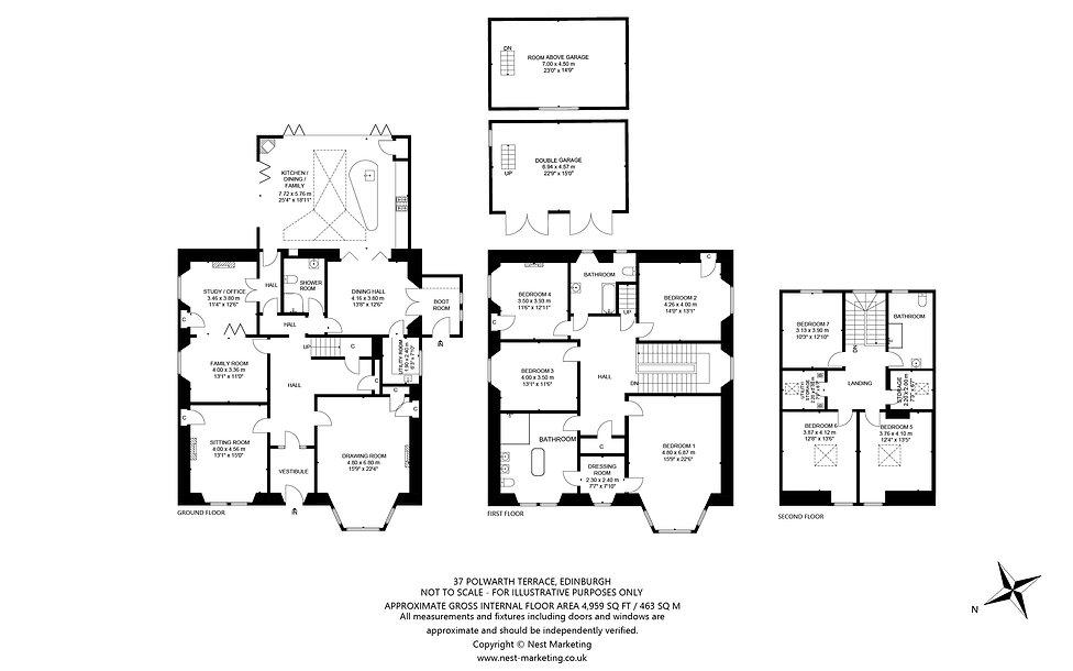 37 Polwarth Terrace, Edinburgh Floorplan