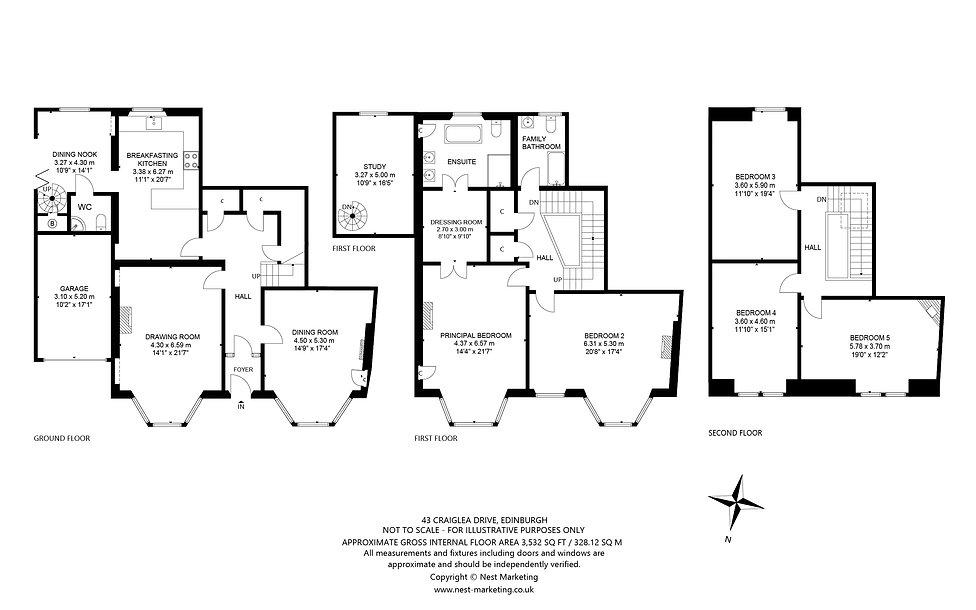 43 Craiglea Drive, Edinburgh Floorplan (