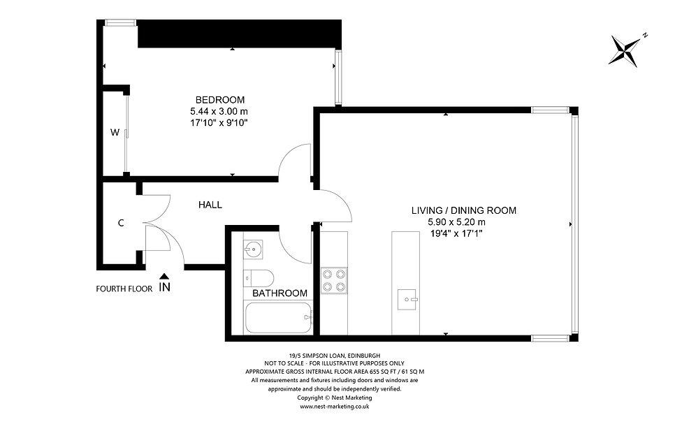 Flat 19, 5 Simpson Loan, Edinburgh Floor