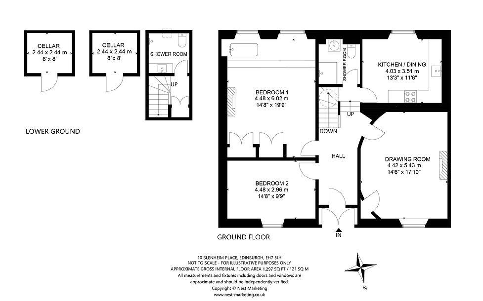 10 Blenheim Place, Edinburgh - Floorplan
