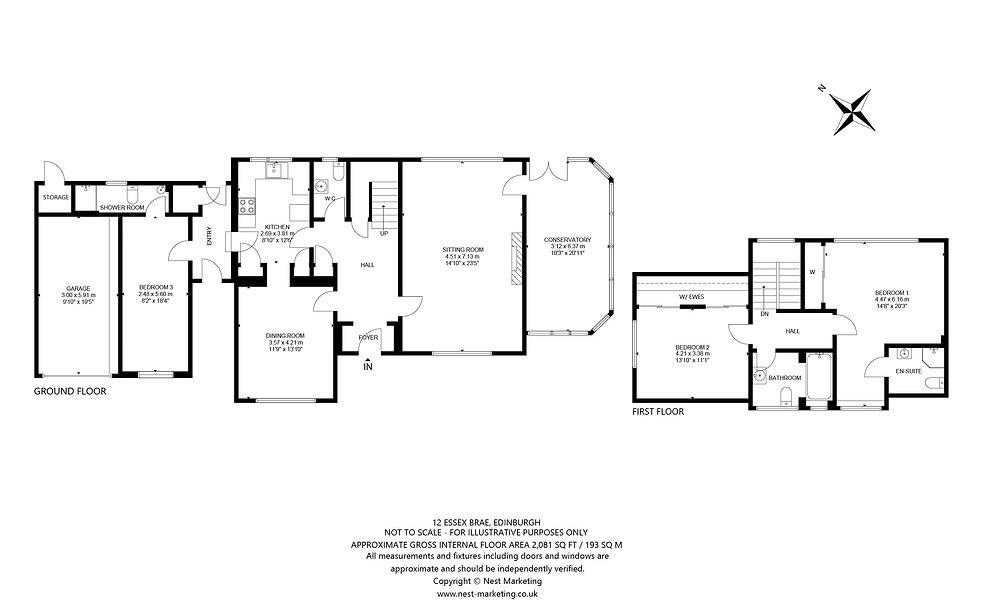 12 Essex Brae, Edinburgh - Floorplans (1