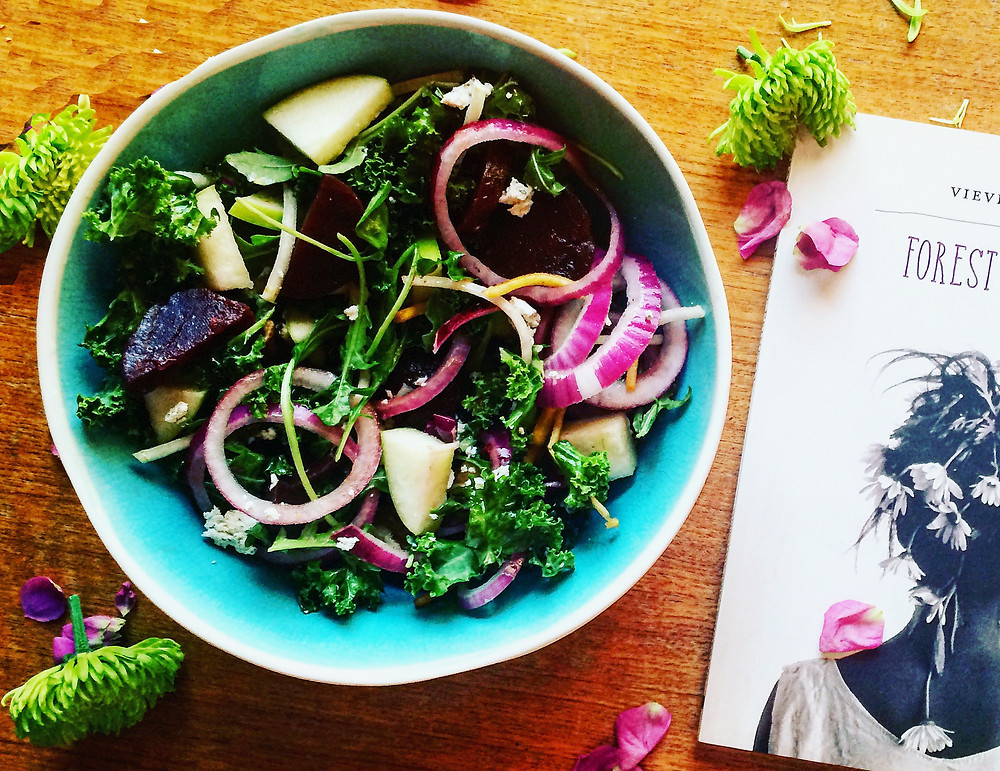 Fork and Page Book and Brunch Blog- Beet Salad