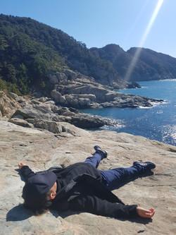갯바위에서 낮잠자보기