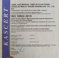 ISO 10002 KALİTE BELGESİ