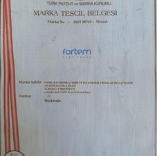 FORTEM MARKA TESCİL BELGESİ