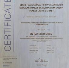 ISO 13485 KALİTE BELGESİ