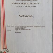 VETOZONE MARKA TESCİL BELGESİ