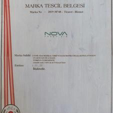 NOVA MARKA TESCİL BELGESİ