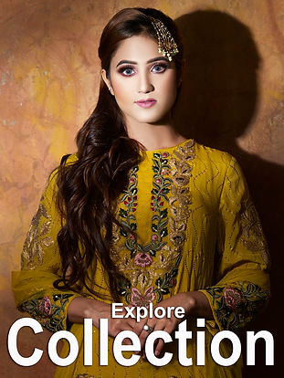 Click to browse designer collection of lehngas, Gowns, Shararas and gararas, Crop tops with skirts..