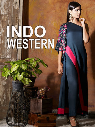 Indo western outfits are a fusion of Indian and western styles which makes them modern and unique.
