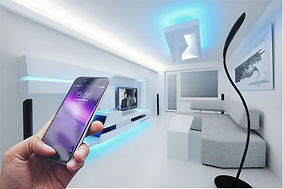 SLUX Li-FI technology.  Best Li-Fi company. Best start up. Investing Hi tech start-up. SLUX swiss Li-FI company. A smartphone that captures light rays from a wall to which the SLUX paint, capable of performing a modulation in the reflection spectrum, has been applied.