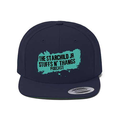 Stuffs n Thangs Podcast Embroidered Flat Bill Hat