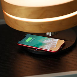 Bedside Lamp with TWS Bluetooth Speaker and 10W Wireless Charger, Table Lamp Des